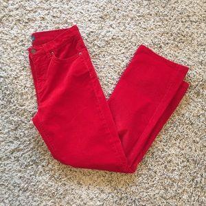 Lauren Ralph Lauren Classic Straight Corduroy Pant